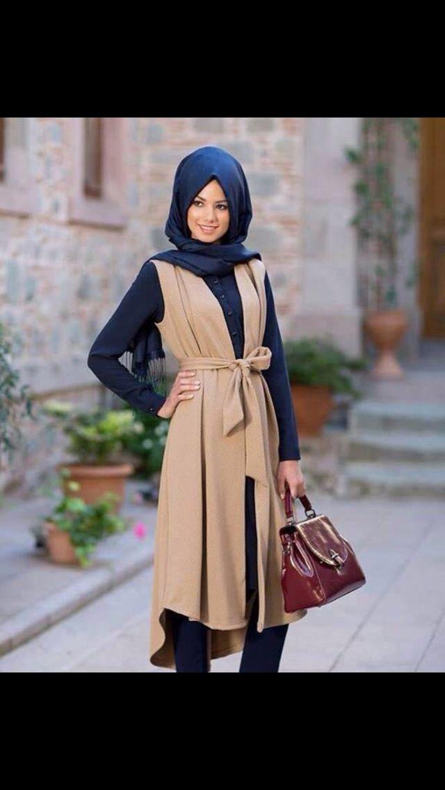 long brown vest cardigan thing