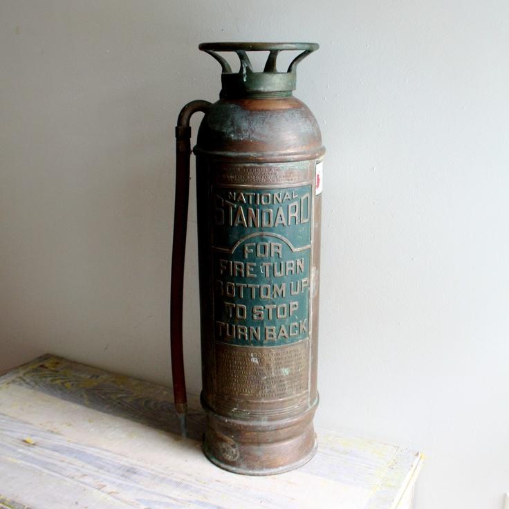Rustic Copper Pail Pendant Light By Cre8iveconcrete On Etsy: 14 Best Images About Vintage Fire Extinguishers On