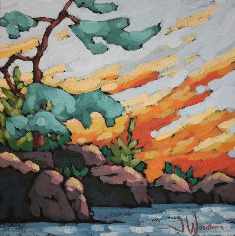 Jennifer Woodburn - orange sky