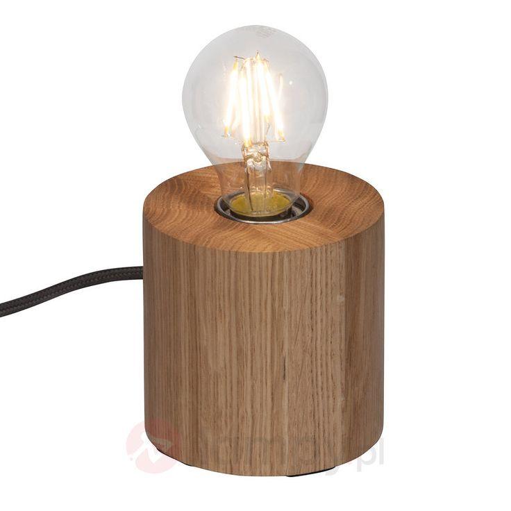 Minimalistyczna, drewniana lampa stołowa Yorkshire 1509121
