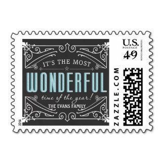 Elegant Rustic Chalkboard Christmas Holiday Postage Stamps http://www.zazzle.com/SquirrelHugger?rf=238481928796519839