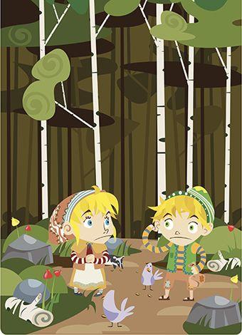 Cuento infantil de Hansel y Gretel.