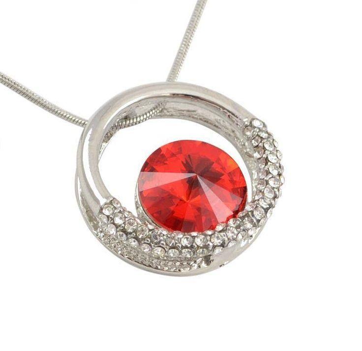 Přívěsek Swarovski Elements Štrasový kruh 339fx357-20 - červený - Bijoux Me! - bižuterie, šály a šátky