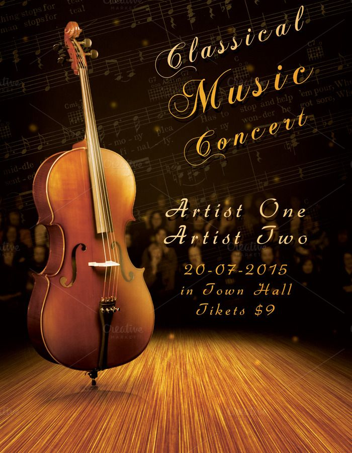 Classic Music Concert Flyer by Krukowski Graphics on @creativemarket