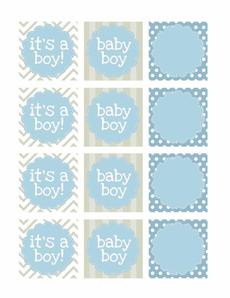 Etiquetas Baby Shower - Varón.