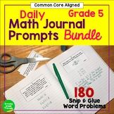 Math Journal Prompts 5th Grade Common Core Year-Long BUNDLE