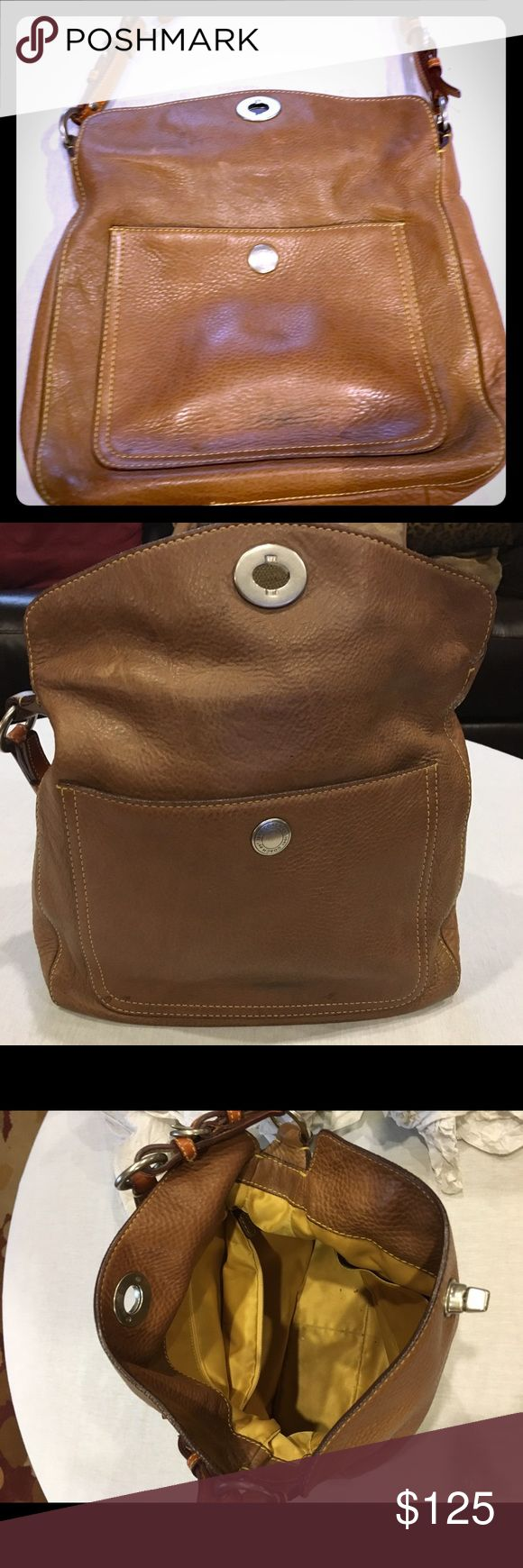 Authentic Coach Purse - Coach Satchel - Tan- gently used. No stains. No damage. No repairs needed. Like new Coach Bags Shoulder Bags