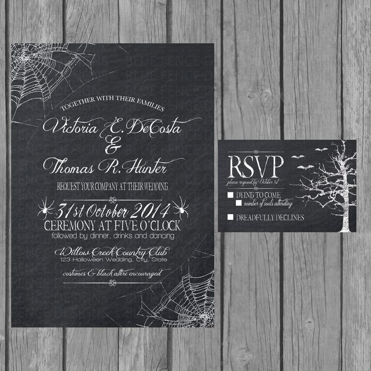 The 25+ best Halloween wedding invitations ideas on Pinterest - free engagement party invites