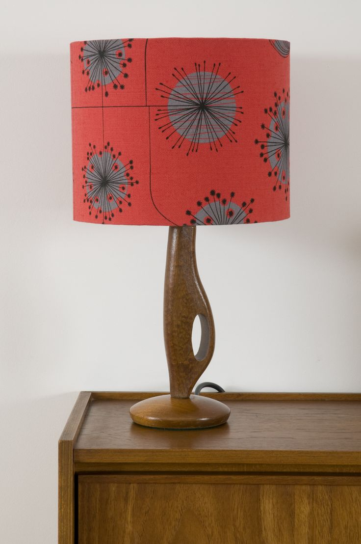 MissPrint Dandelion Mobile Coral With Storm Lampshade.