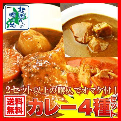 【訳あり(業務用)】北海道カレー福袋4食セット(北国オリジナルスープカレーも♪)訳アリ/わけあり/ワケアリ 送料無料【楽天市場】