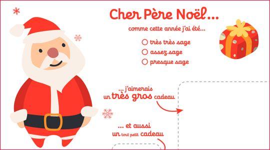 Liste au pere Noel a imprimer
