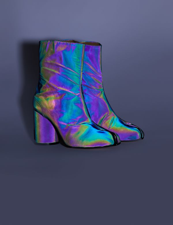 9b20fd4e7525c Maison Margiela Holographic Tabi Ankle Boots - Multicolor on in 2019 ...