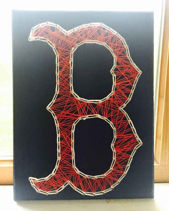 Boston Red Sox  String Art by JPrinceCreations on Etsy