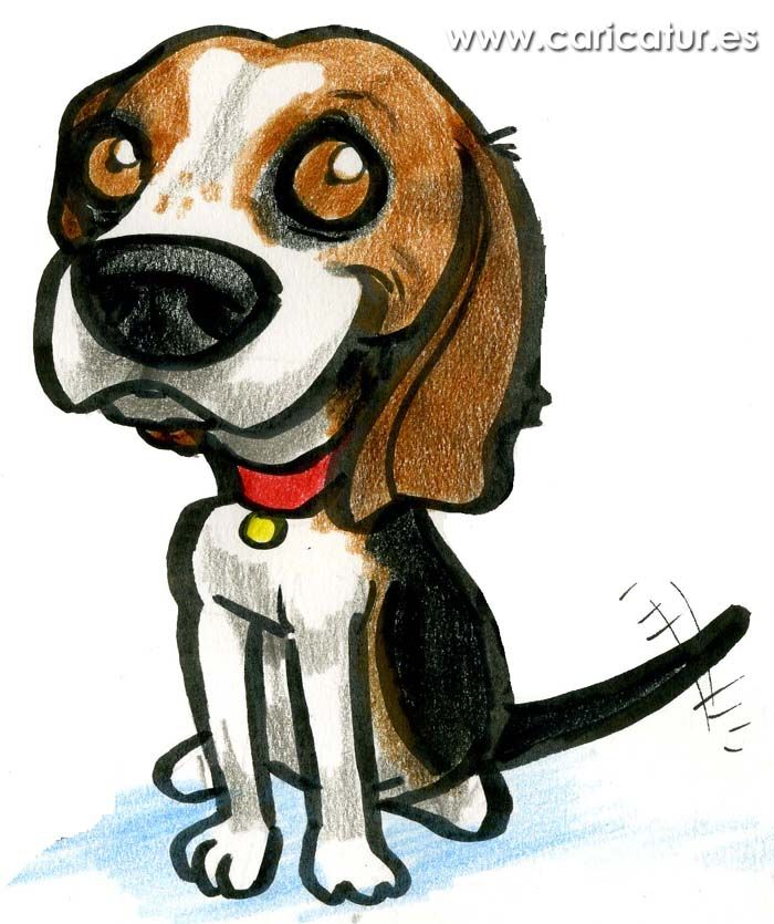 Beagle Cartoon Free Clipart Cartoon Of Beagle Dog Wagging Tail