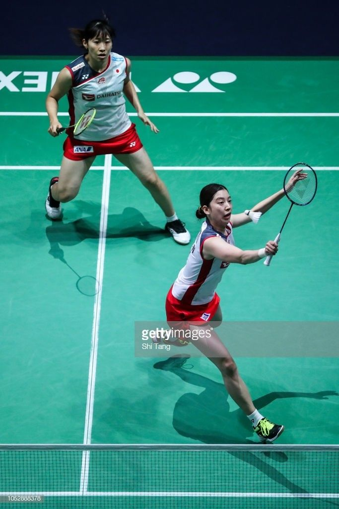 Pin By Badminton Collection On Women S Double Badminton Teams Basketball Court