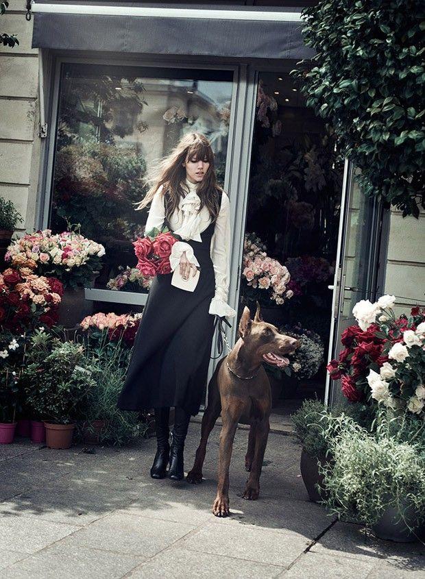 Novel Romance: Freja Beha Erichsen by Peter Lindbergh for W Magazine November 2015