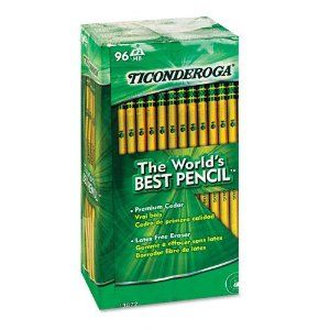 The world's best pencils, Ticonderoga Pencils.  My favorite pencils and the only brand I use!