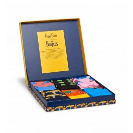 Treat your favourite Beatles' super-fan with a trip to Pepperland with our The Beatles Collector Box Set. This complete set of six pairs of socks includes every design from our collaboration with The Beatles, including the instantly-recognizable Yellow Submarine sock. The set is presented in an LP record sleeve box, with all of the iconic characters from this cult film on the front. The socks are made from comfortable combed cotton and come in men's and women's sizes.