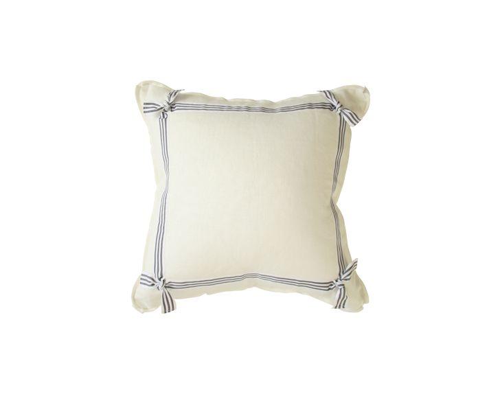 ribbon trimmed pillow