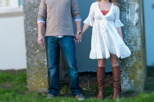 Casual Engagement Outfit Photo by Janet Lanza Photography for Bisou Bride