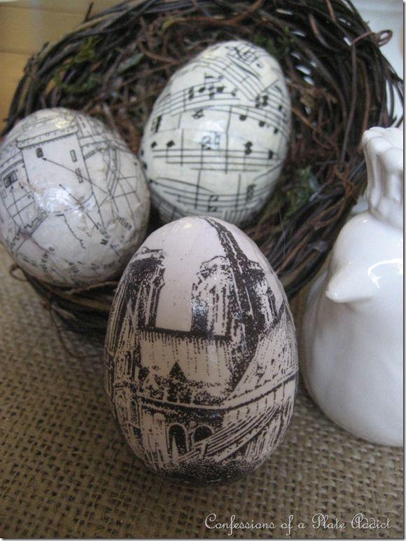 How to make decoupage eggs using plastic easter eggs
