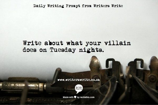 Daily Writing Prompt - Writers Write Creative Blog