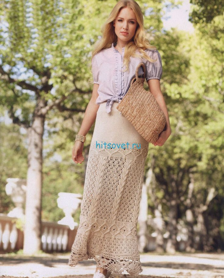 Вязание длиной юбки