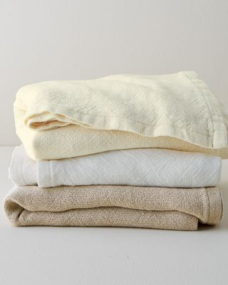 Eileen Fisher Pure Linen Blanket and Throw by Brahms Mount