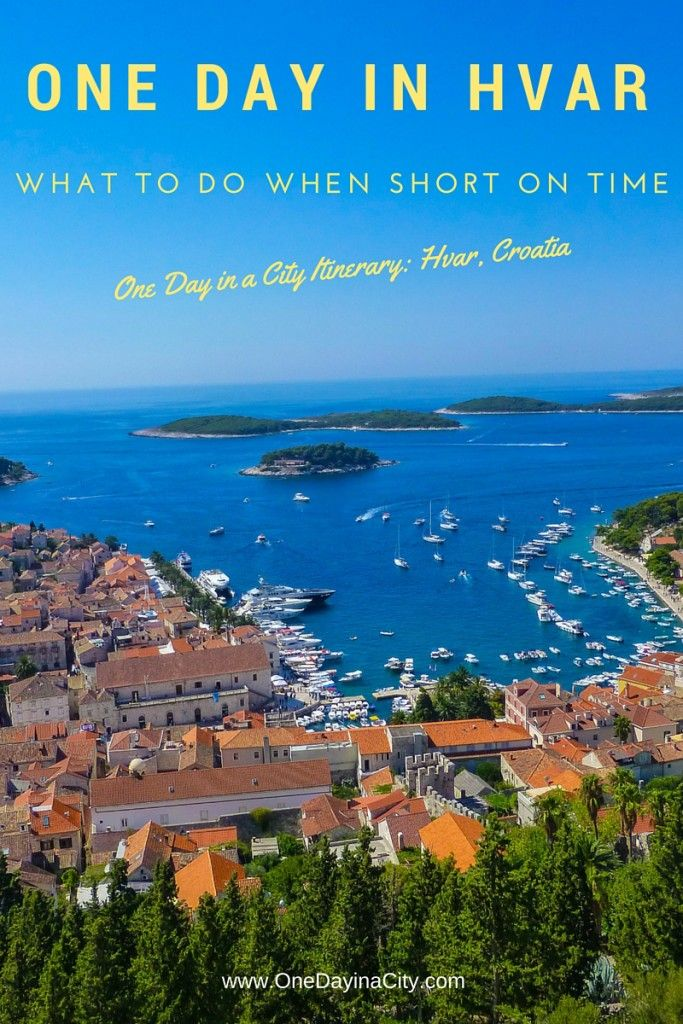 What to see and do when short on time visiting the gorgeous island of Hvar, Croatia -- travel tips on must-see attractions, where to eat, and where to sleep.