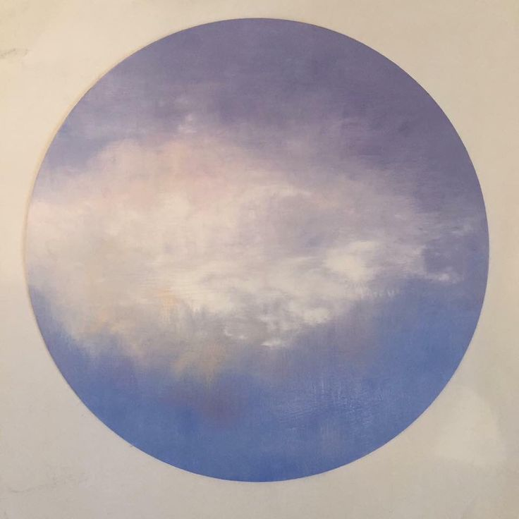 'To dream of lucid things' Oil on wooden round 300 mm diameter $195   #belindagriffiths #nelsonartexpo #contemporaryaustralianartist #cloud #surrealism