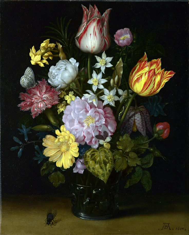 21 best Ambrosius Bosschaert images on Pinterest | Flower paintings ...