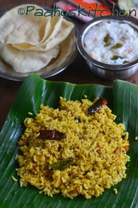 Padhuskitchen: Tamarind rice-How to make Tamarind rice-Puliogare- Puliyodharai -Puliyodarai -Pulikkachal