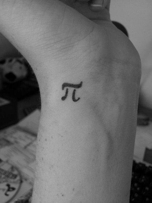Amazing Small Pi Tattoo On Wrist