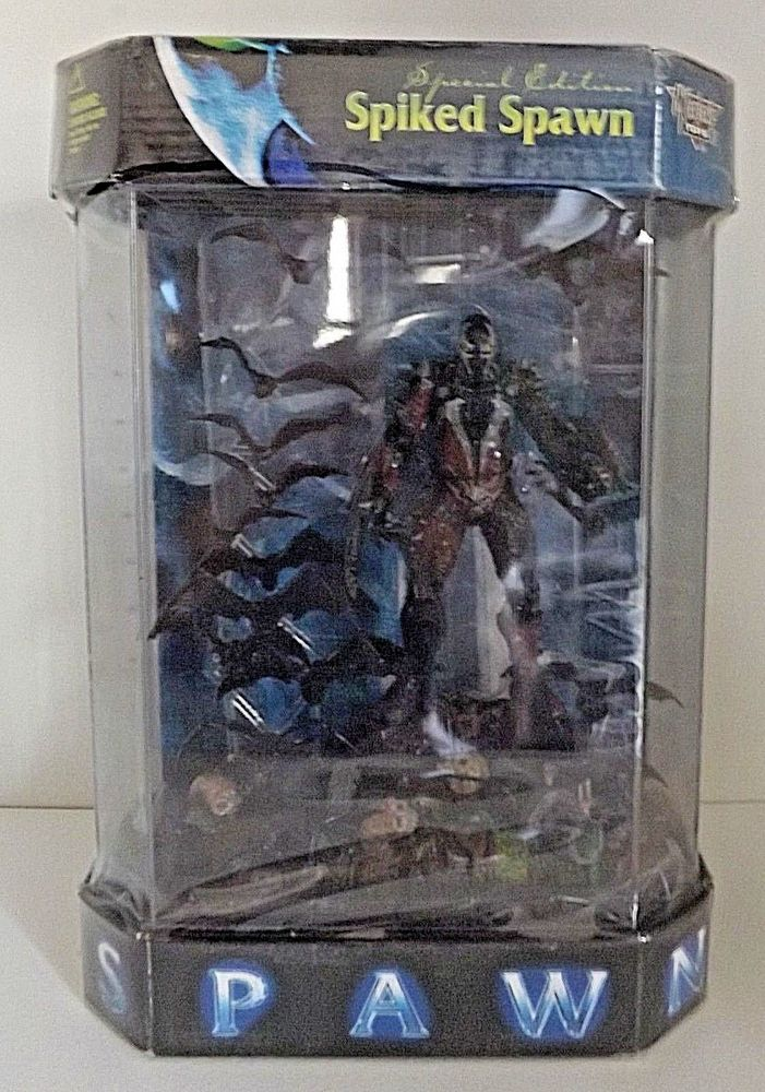 1998 Spawn Action Figure - Special Edition Spiked Spawn in Tank Display Case #McFarlaneToys