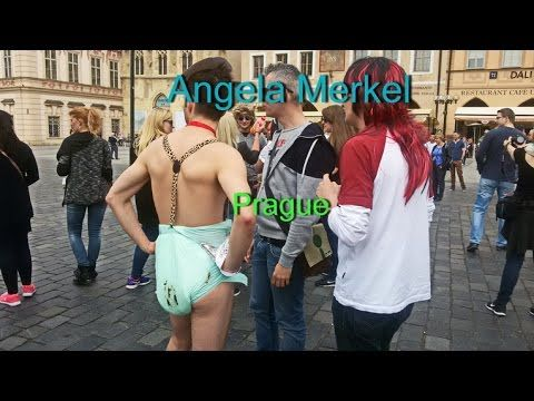Ангела Меркель унижена немцами в Праге