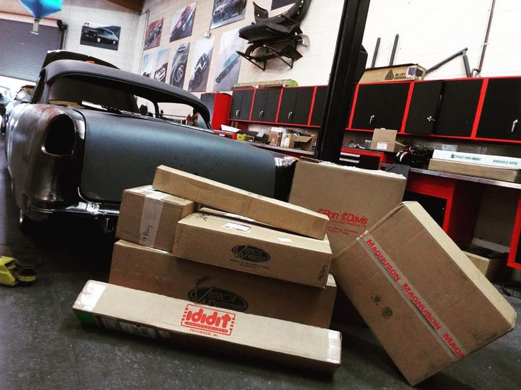 A whole stack of parts just came in for the 1955 #belair  #fesler #feslerbuilt #feslernation #asanti #dynamat #gmperformance #ididit #vintageair #dakotadigital #recaro #roadstershop #ronfranciswiring #baileigharmy #baileighindustrial #millerwelds @asantiwheels @dynamat_official @gm_performance_ @vintageair_ @dakota_digital @recaro_motorsport @roadstershop @baileigh_industrial @miller_welders @danchukusa #55 #classic #hotrod #project #badass #sick #carporn #fourwheelporn #blacklist…