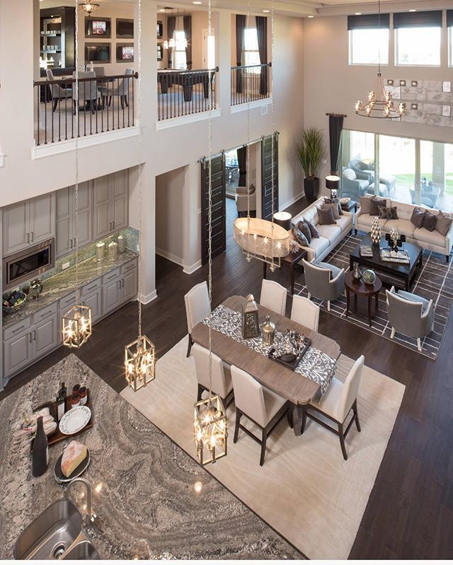 A bird's eye view of this open floor plan designed by Five Star Interiors