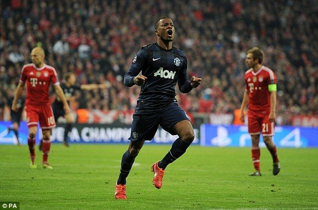 Evra netted a sublime goal that went into the net off the crossbar