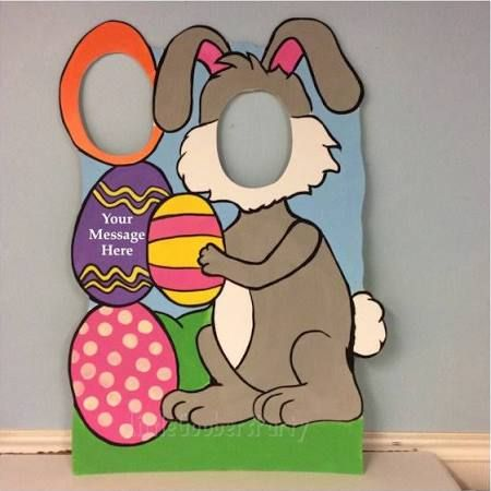 head in hole photo board easter - Google Search
