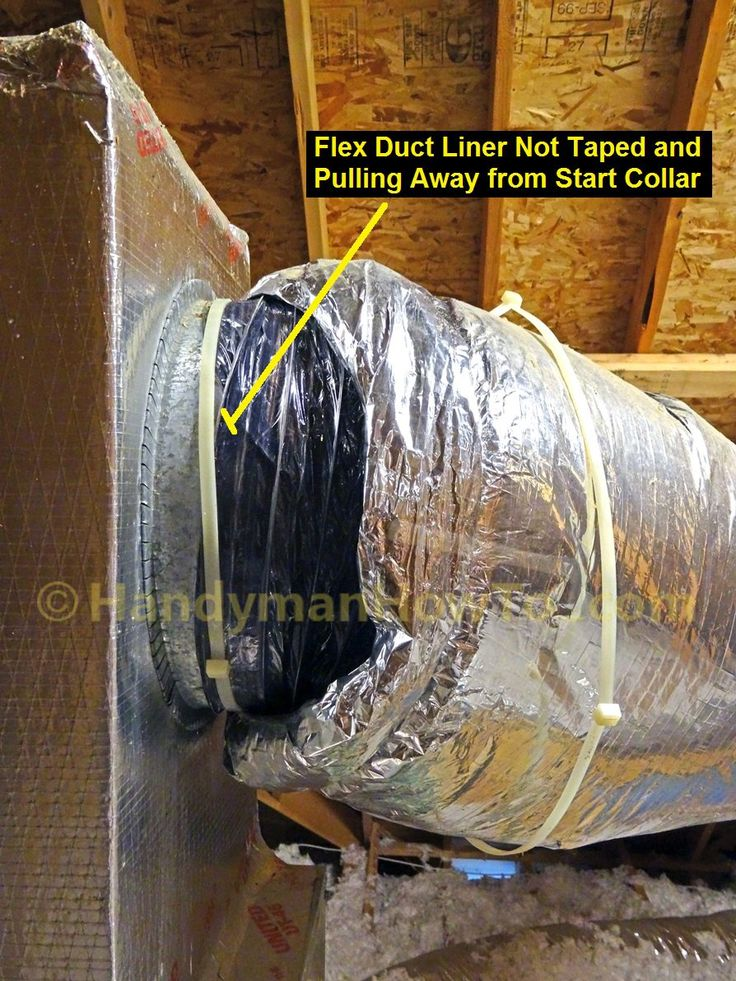 Air Handler Supply Plenum Flexible Duct And Start Collar Chimeneas