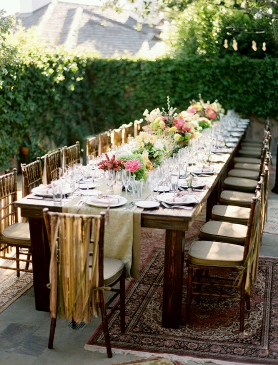 Beautiful Spring Alfresco Table And I Love The Ribbons