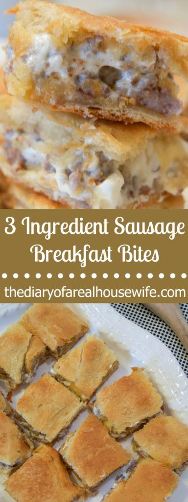 These 3 Ingredient Sausage Breakfast Bites are SO easy to make and taste awesome! The entire family loved this simple breakfast recipe.
