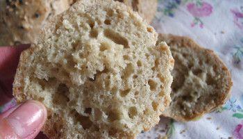Pão alentejano em bolinhas [Paleo, sem glúten]