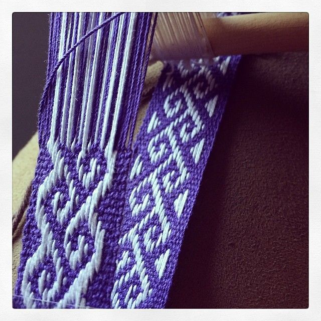 purple weaving, reminds me of my 1970s woven belts, jellycrys's photo on Instagram