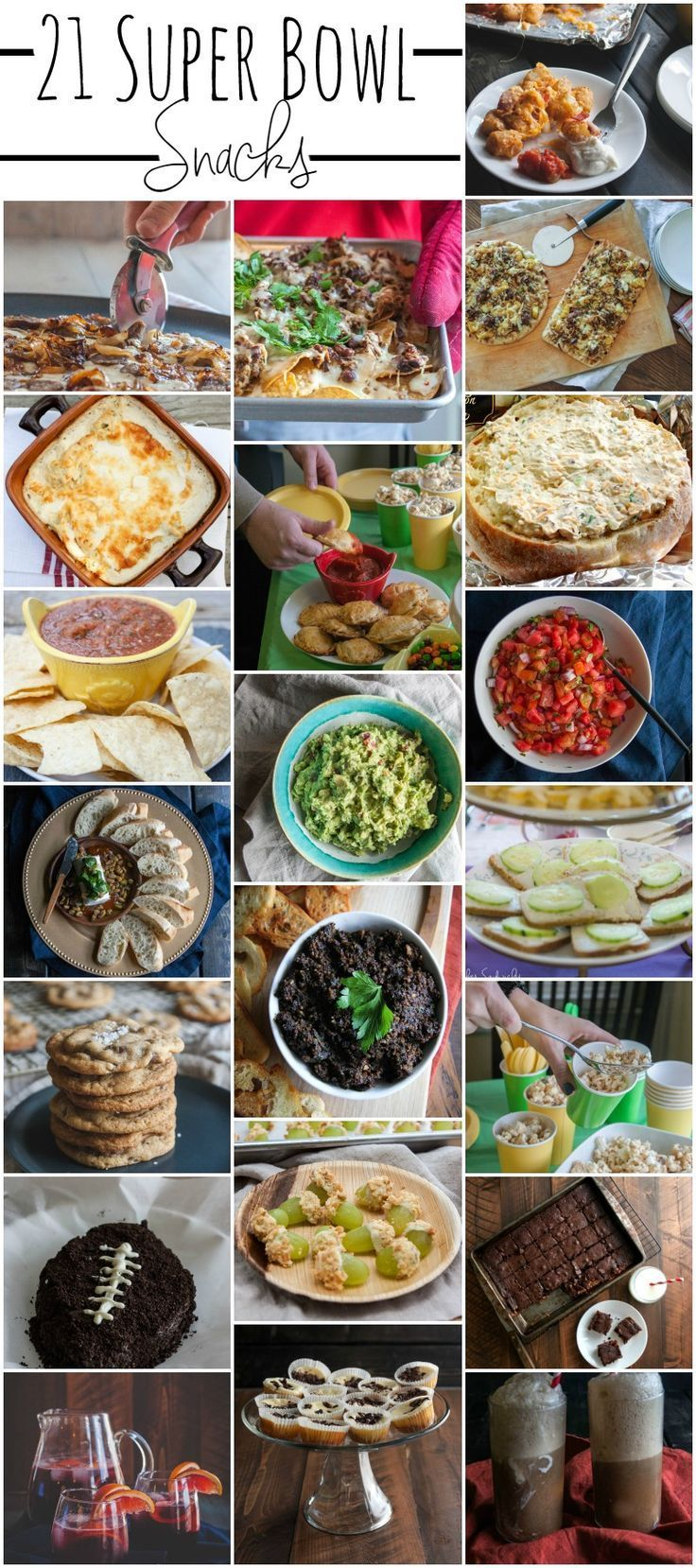 21 super bowl snack & appetizer ideas | pinterest | snacks, bowls