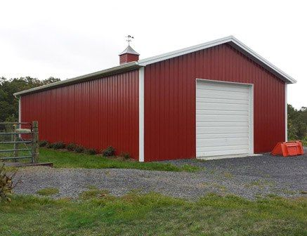 Medium Pole Barns - Most Used For: Garages, Storage Sheds, Barns