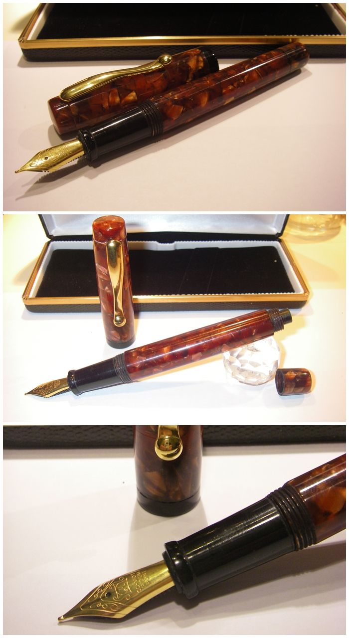 Gilded Copper Fountain Pen - Plunger System  http://www.blancheurpens.com/ made in Milan