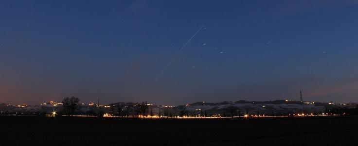 La Stazione Spaziale Internazionale sorvola le mie colline, Oltrepò Pavese