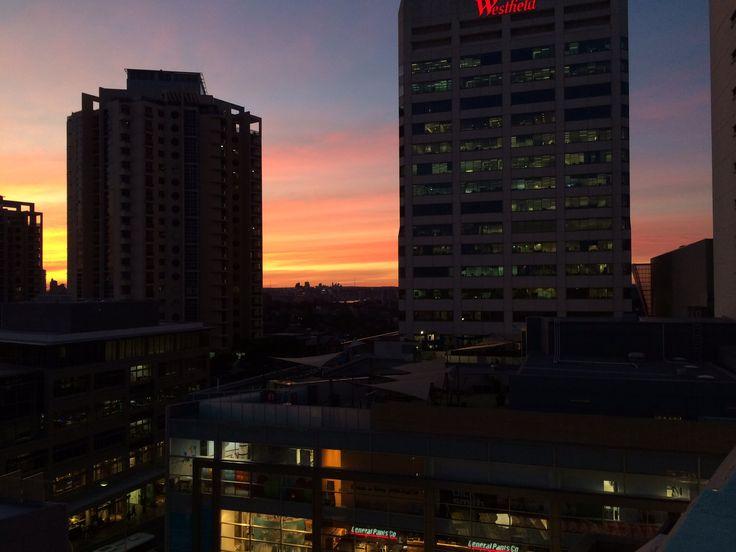 Sunset over Bondi Junction