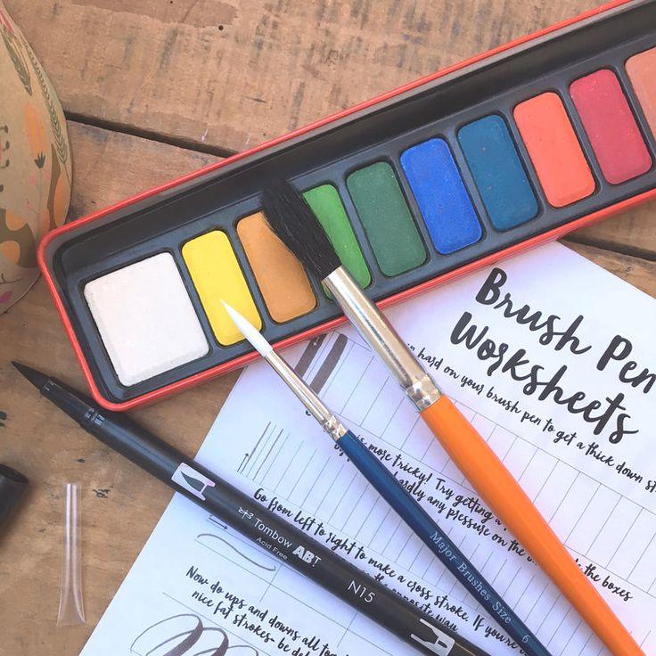 Brush Calligraphy Kit for Children
